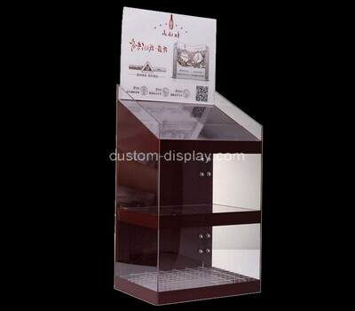 Custom 2 tiers perspex display cabinet