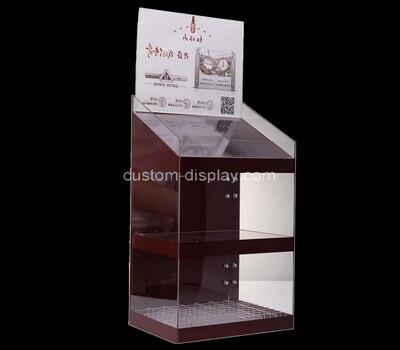 Custom 2 tiers perspex display cabinet