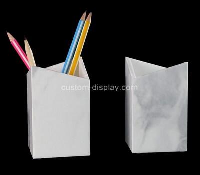 Custom table top perspex pen holders