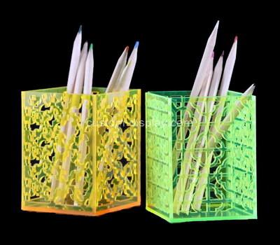 Custom color perspex pen holders