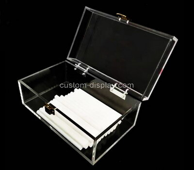 Custom plexiglass organizer box with lid