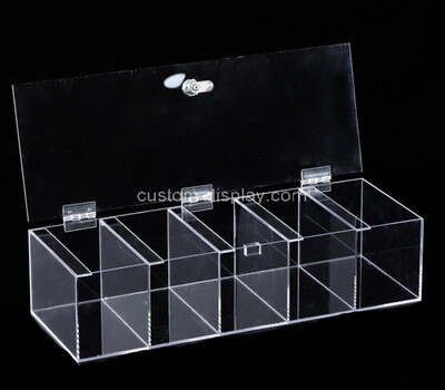 Custom perspex 5 grids display box with lid
