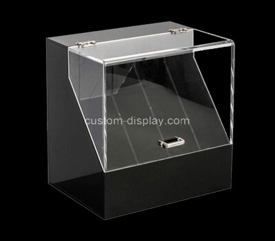 Custom perspex 4 grids display box with protection cover