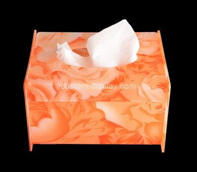 Custom color perspex tissue paper box