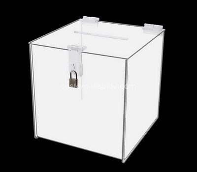 Custom square perspex lockable ballot box