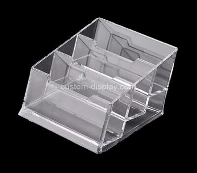 Custom 3 grids acrylic business holder box