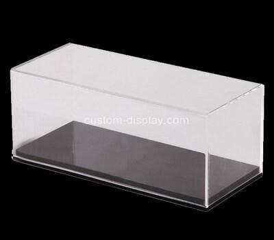 Custom 5 sided acrylic display box with black base