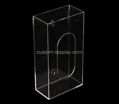 Custom wall clear acrylic tissue paper box