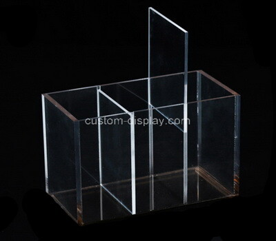 Custom 3 grids clear acrylic display box