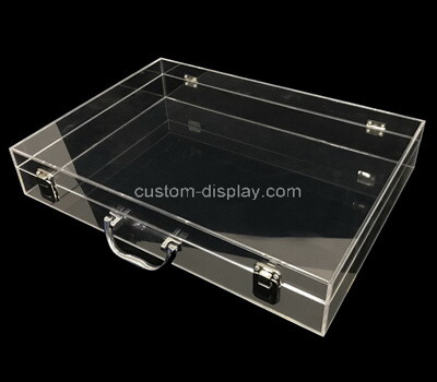 Custom acrylic flat lockable display case