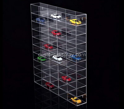 Custom wall clear acrylic model cars display cabinet