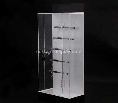 Custom acrylic metal hangers display cabinet