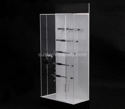 Custom acrylic metal hangers display cabinet
