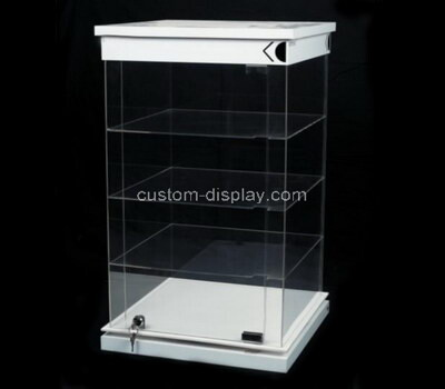 Custom 4 tiers acrylic lockable display cabinet