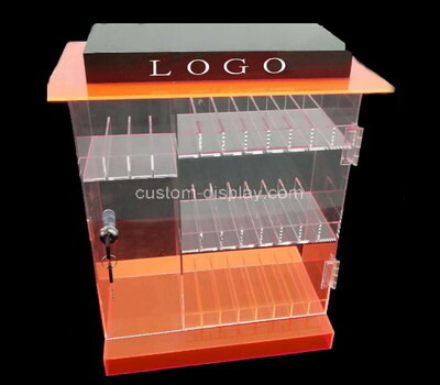 Custom acrylic lockable display cabinet