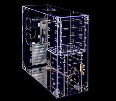 Custom clear plexiglass computer case
