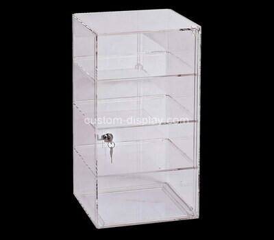 Custom clear plexiglass 4 tiers display cabinet