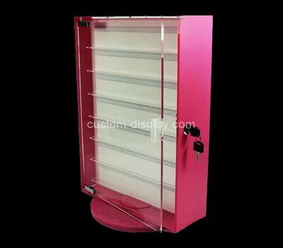 Custom rotating 7 tiers acrylic display cabinet