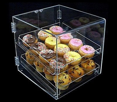 Custom 2 tiers acrylic small cakes display case