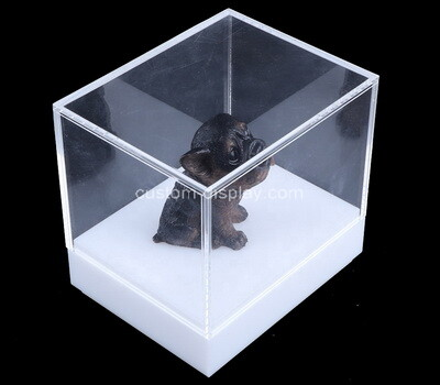 Custom 5 sided acrylic display case with white base