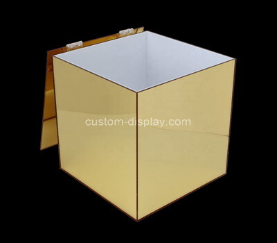 Custom mirror acrylic lockable donation box