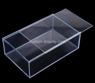 Custom clear plexiglass sliding lid box