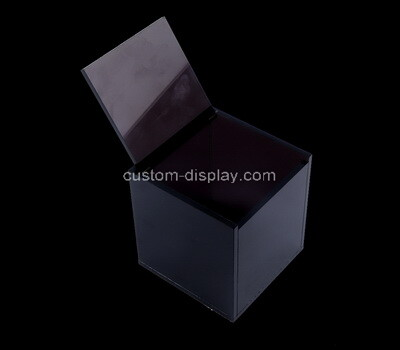 Custom black plexiglass box with lid