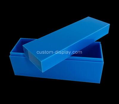 Custom blue plexiglass box with lid