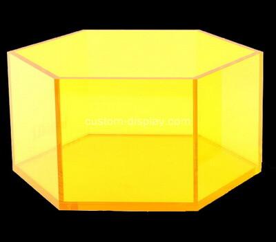 Custom hexagon yellow acrylic box