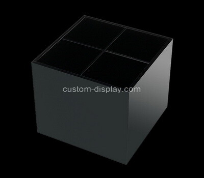 Custom 4 grids black acrylic box