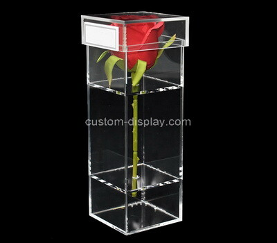 Custom transparent acrylic flower box