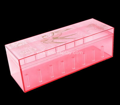 Custom pink acrylic box