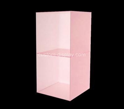 Custom 2 tiers pink acrylic display case