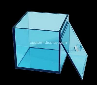 Custom transparent blue acrylic box