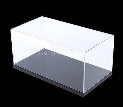 Custom acrylic 5 sided box with black base