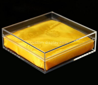Custom transparent acrylic gift box with lid