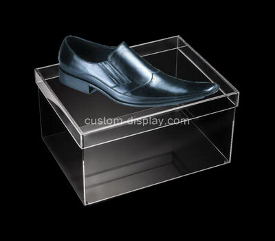 Custom transparent acrylic shoe box with lid