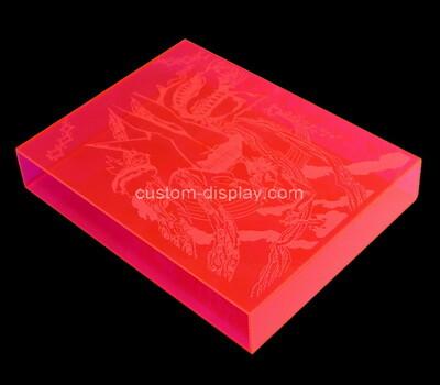 Custom printing pink acrylic book case