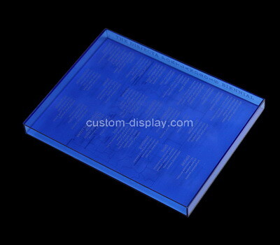 Custom printing blue acrylic book case