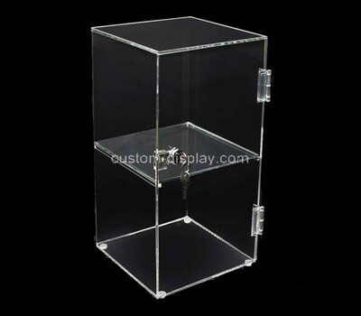 Custom transparent acrylic lockable display box