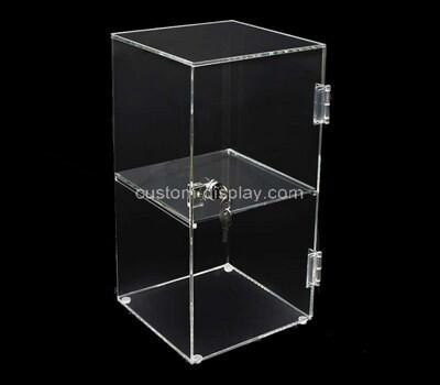 Custom transparent acrylic lockable display box