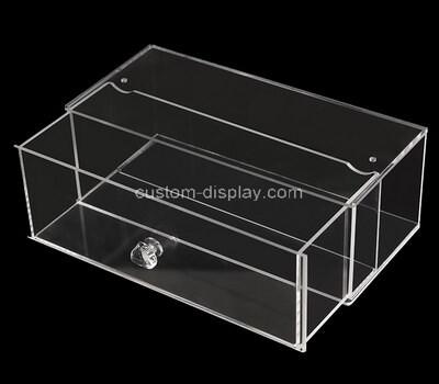 Custom transparent plexiglass drawer box
