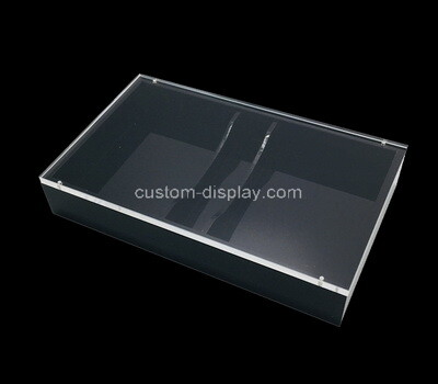 Custom acrylic 2 compartment porker box