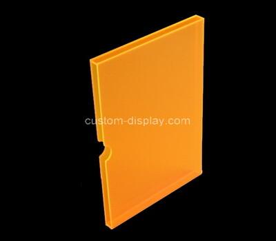 Custom orange perspex book slipcase