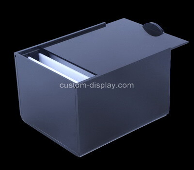 Custom black perspex sliding lid box