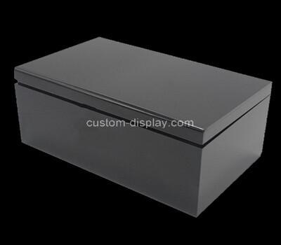 Custom black perspex cigar box