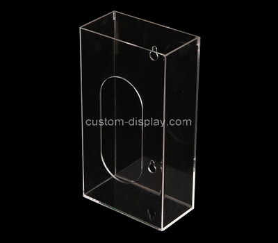 Custom wall hanging clear perspex facial tissue holder box