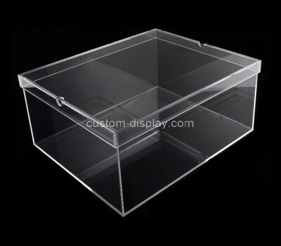 Custom clear perspex shoe box with lid