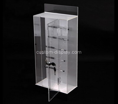 custom acrylic plexiglass lockable display case