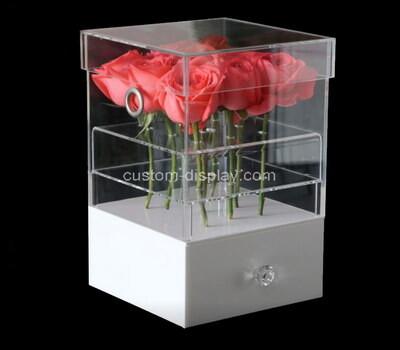 custom acrylic flower box with drawer